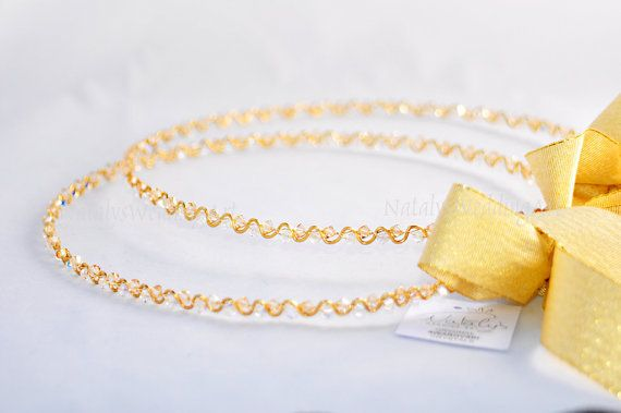 Gold or Silver Stefana with AB Swarovski Crystals, $154.50 at the Greek WEdding Shop ~ http://www.greekweddingshop.com/