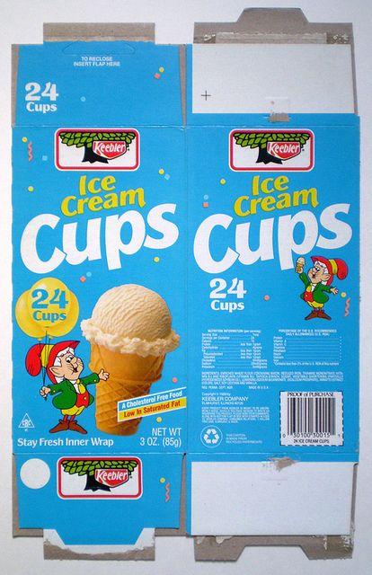 1989 Keebler Ice Cream Cups Box Flickr Photo Sharing