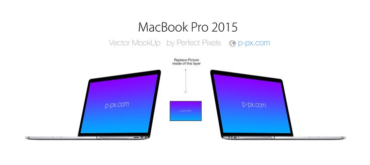 Free MacBook Pro 2015 Angled View PSD + Ai Vector Template (4.2 MB) | p-px.com
