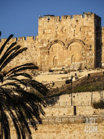 The Golden Gate, the Oldest of the Gates in Jerusalem's Old City Walls Photographic Print by Richard Nowitz at Art.com