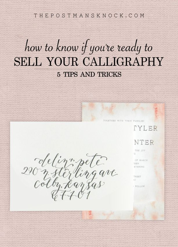 How to Know If You're Ready to Sell Your Calligraphy Services – The Postman's Knock Blog