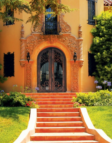 17 best images about hacienda entries on pinterest for Mediterranean style front doors