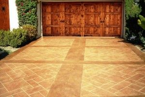 Stamped Concrete Driveways Ideas: Stamp Existing Concrete Driveway