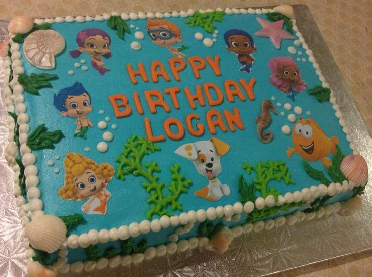 bubble guppies cake   Bubble Guppies   by CakeNerd   CakesDecor com   cake  decorating. 17 Best ideas about Bubble Guppies Decorations on Pinterest