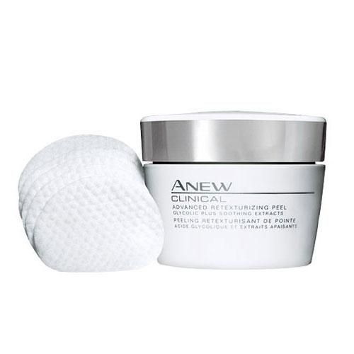 Anew Clinical Advanced Retexturizing Peel. An at-home peel. Now, in 1 easy step! See results superior to a professional 35% glycolic peel at home.