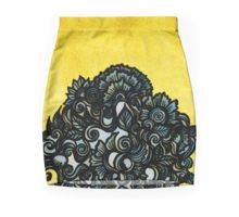 Baroque doodle Mini Skirts  Glass pen drawing digitally coloured  baroque doodle sketch flourish ornate ornamental zentangle ink lineart decorative embellished adornment victorian gold gray grey texture