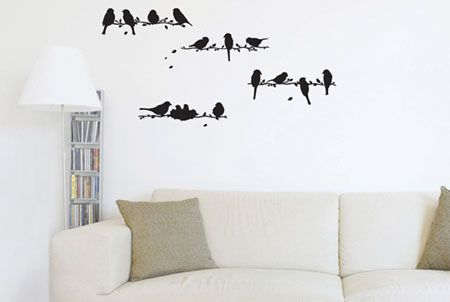 decorating with wall murals! some cool ideas here!