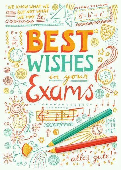 Best wishes in your exam