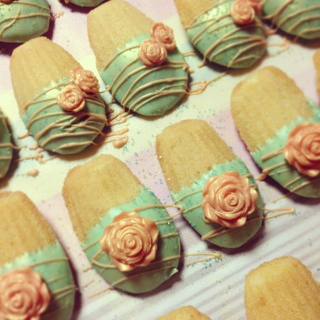 Shabby Chic Inspired Chocolate Covered Madeleines Just