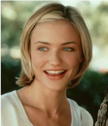 Do you have to be flat-chested for this? Cameron Diaz has a nice bob