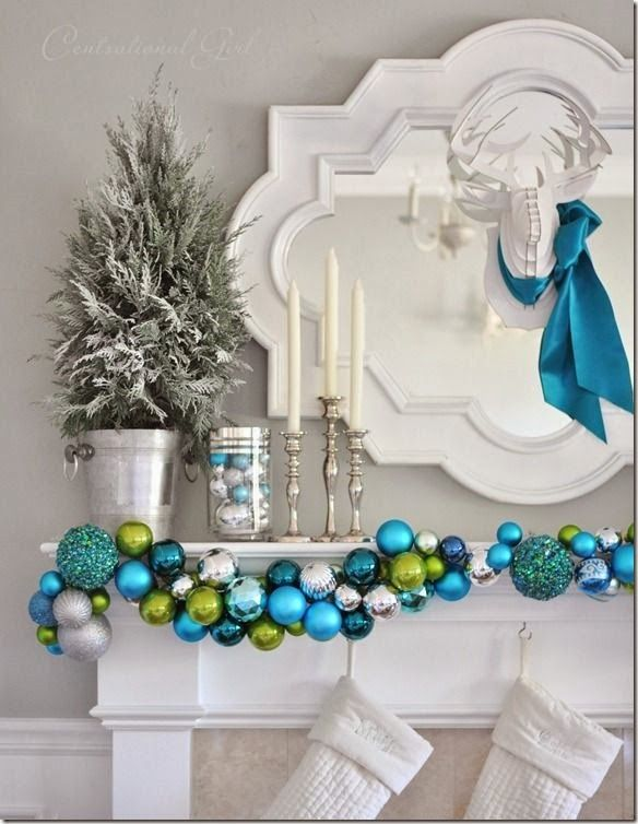 stair banister holiday decor | Christmas Decorating Ideas
