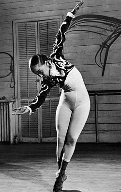Janet Collins, the first black prima ballerina of the Metropolitan Opera House in the early 1950's. I had the opportunity to interview her and perform her legacy for a middle school history competition.
