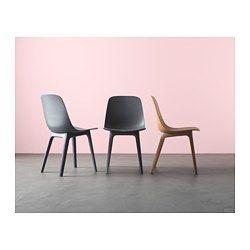 IKEA - ODGER, Stol, Skön att sitta på tack vare den skålformade sitsen och ryggstödets rundade form.Ett bra val för miljön, eftersom stolen tillverkad av 30 procent trä, som är en förnybar resurs, och minst 55 procent av de övriga materialen är återvunnen plast.Du behöver inga verktyg för att montera stolen, du klickar bara ihop den med en enkel mekanism under sitsen.Idealisk för barnfamiljer, eftersom materialet, den stilrena formen och släta ytan gör stolen lätt att torka av.