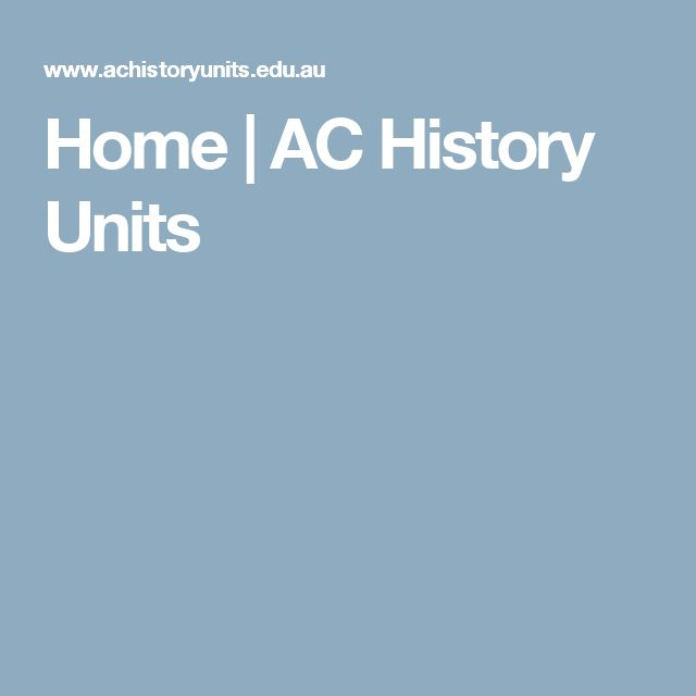 Home | AC History Units