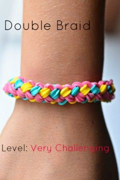 Rainbow loom - Double braid, actually not that hard! (Requires 2 looms)
