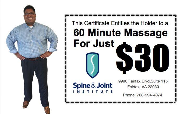 Massage Thank You   The Best Chiropractor Fairfax VA