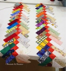 Texas Braids pattern in Adventures with Leaders and Enders, Bonnie Hunter
