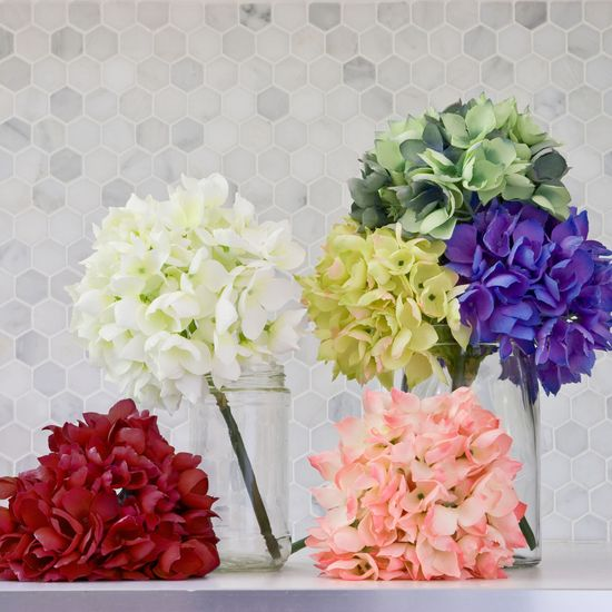 The Short Stem Hydrangeas from Urban Barn is a unique home decor item. Urban Barn carries a variety of Blooms + Branches and other  products furnishings.