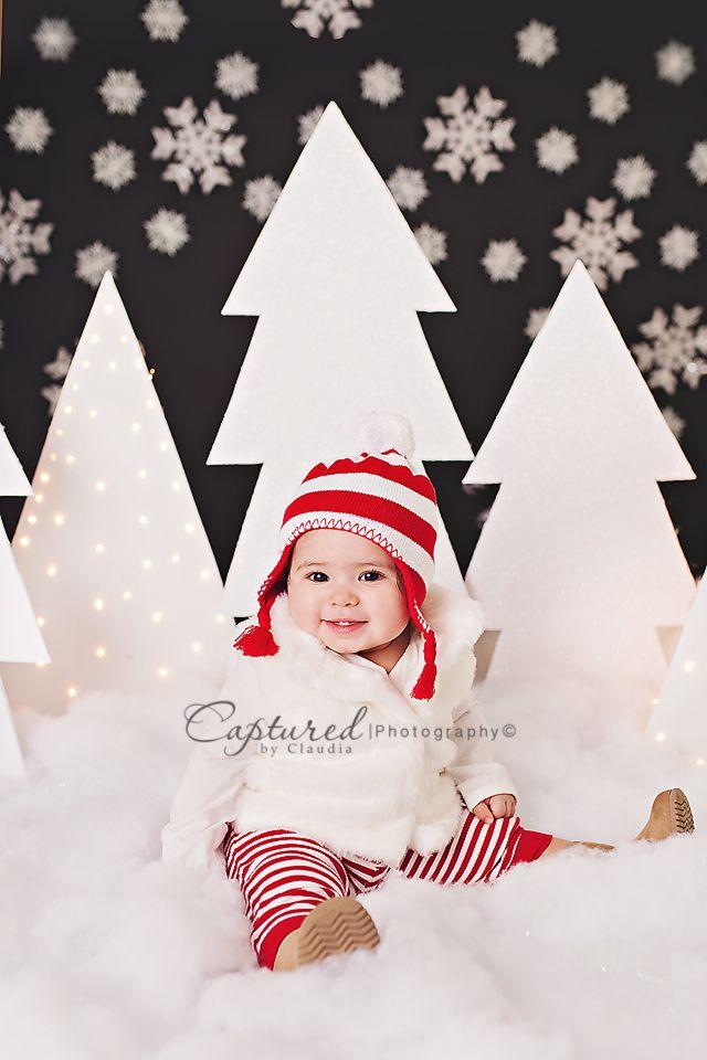 Image of Snowy Night Mini Session Christmas  christmas mini session, snowflakes, snow, christmas setup, photography setup