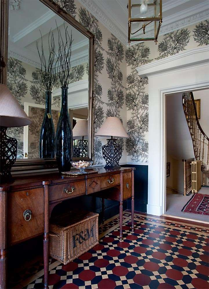 Victorian Foyer Wallpaper : A georgian townhouse in edinburgh victorian tile mirror
