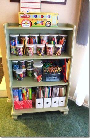 get organized solutions to organize kids art supplies office craft nooks kinderzimmer. Black Bedroom Furniture Sets. Home Design Ideas
