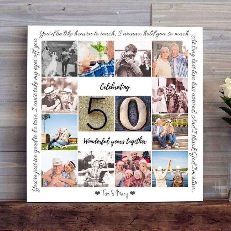 50th wedding anniversary gift for parents golden wedding