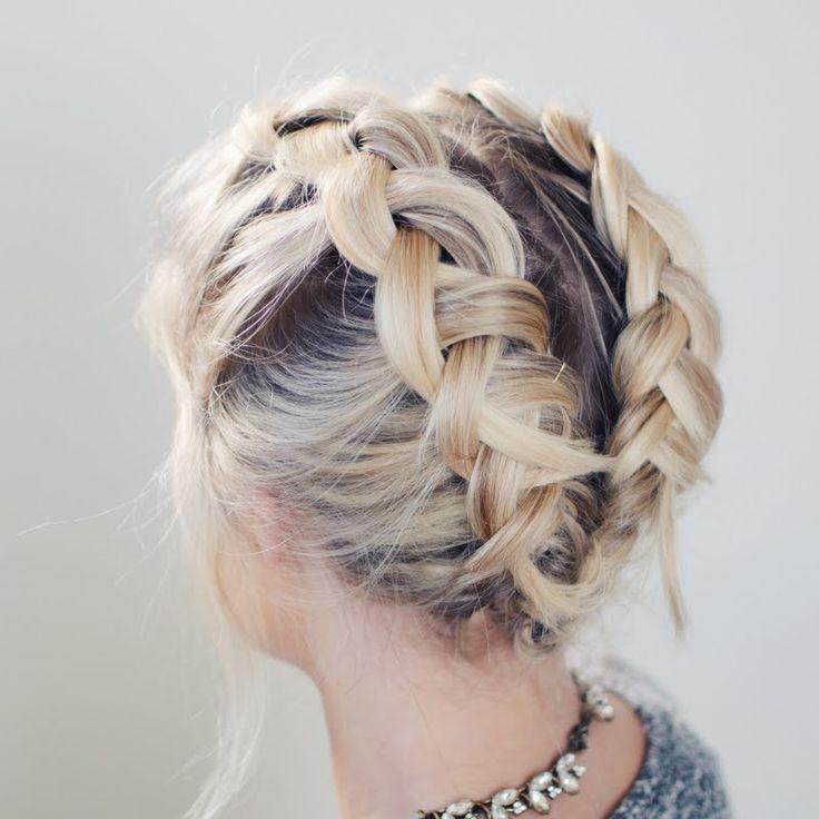 Incredible 1000 Ideas About Braid Short Hair On Pinterest Short Hair Short Hairstyles Gunalazisus