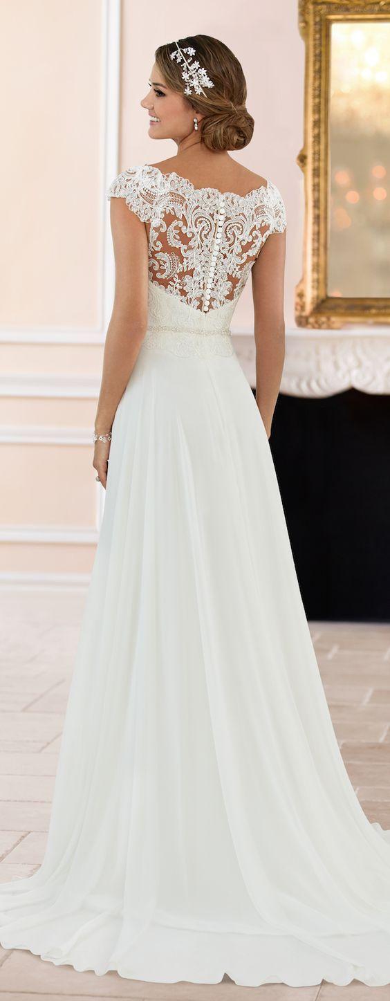 Featured Dress: Stella York; Wedding dress idea.