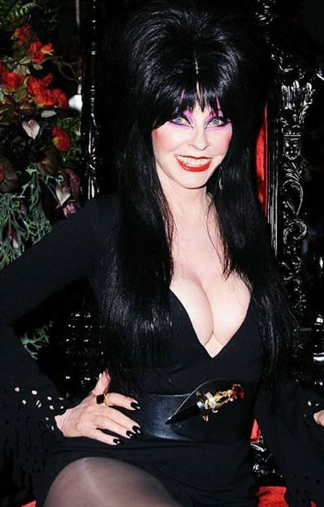 image Busty woman in elvira costume toys