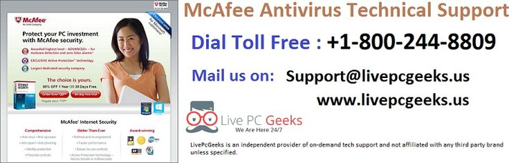 1-800-244-8809 #McAfee #Antivirus #Technical #Support Phone Number