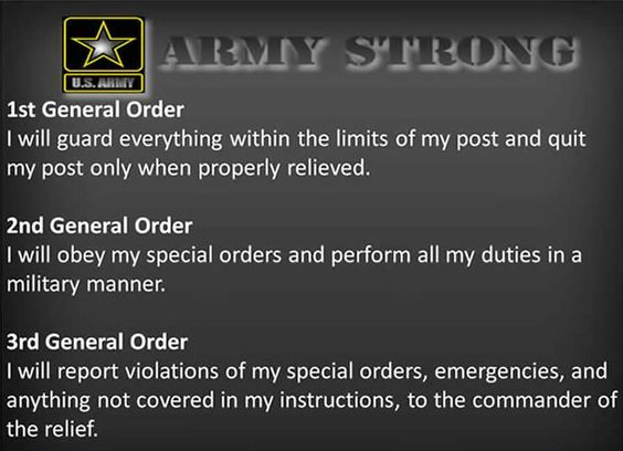 Image result for 3 general orders