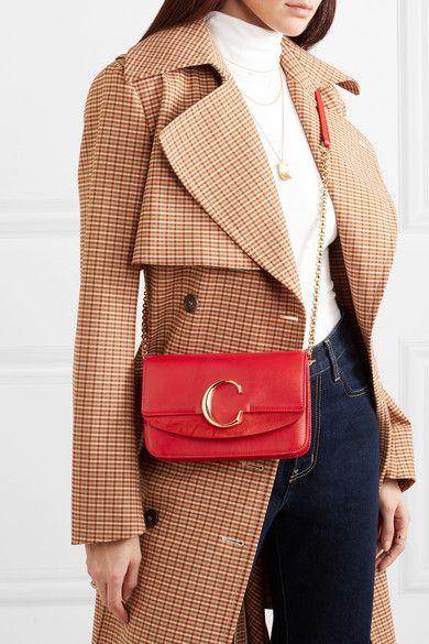 a514ef6f3d Chloé - Chloé C mini suede-trimmed leather shoulder bag in 2019 ...