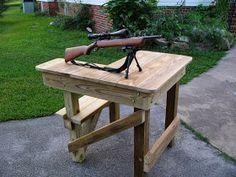 Woodworking Plans Online: Shooting Bench Plans | mine ...