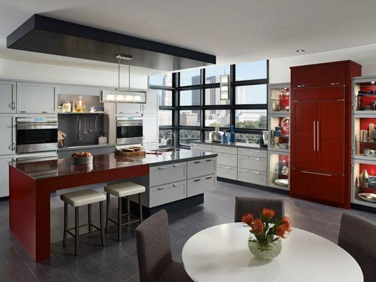 best 25+ cuisine rouge et gris ideas only on pinterest | cuisine