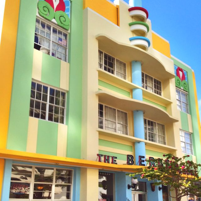 Art Deco hotel in South Beach Miami