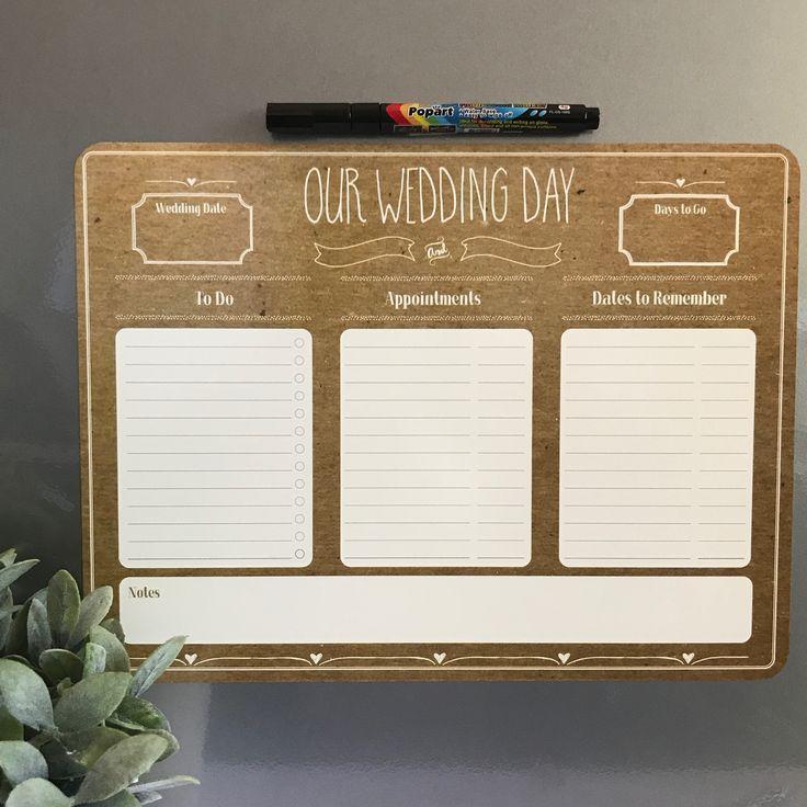 Reusable Fridge Magnet Wedding Planner by ATP Creative Design