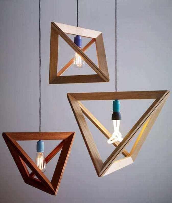 Деревянные люстры и предметы интерьера