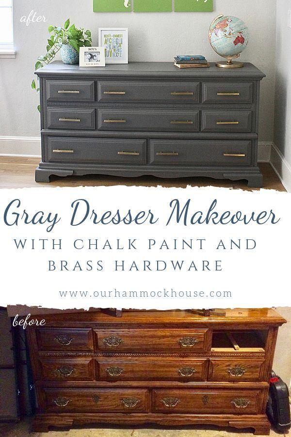 Gray Dresser Makeover Furniture Makeover Diy Dresser Furniture