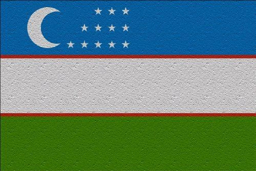 Uzbekistan Flag Large Glass Cutting Board by MyHeritageWear.com. $29.99. Save 33%!