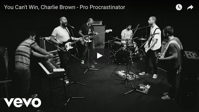 """Pro Procastinator es el segundo sencillo de """"Marrow"""" último álbum dela bandaYou Can't Win, Charlie Brownlanzado este mes y que es número 1 de ventas."""