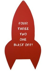 large rocket chalkboard - chalkboard, chalkboards, mercantile red, plywood ... - Green with Envy
