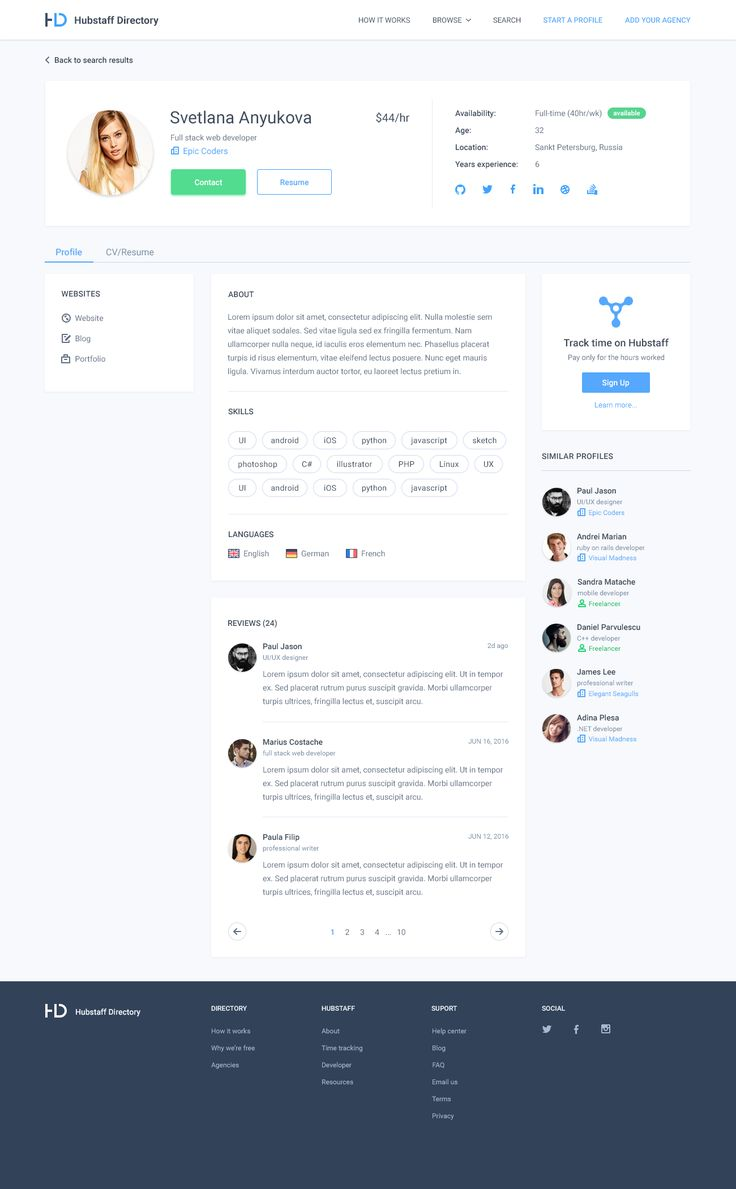 Dribbble - directory-user-profile.png by Adrian Goia