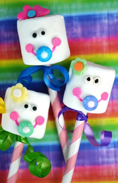 Como decorar marshmallows para o chá de bebê - Dicas pra Mamãe