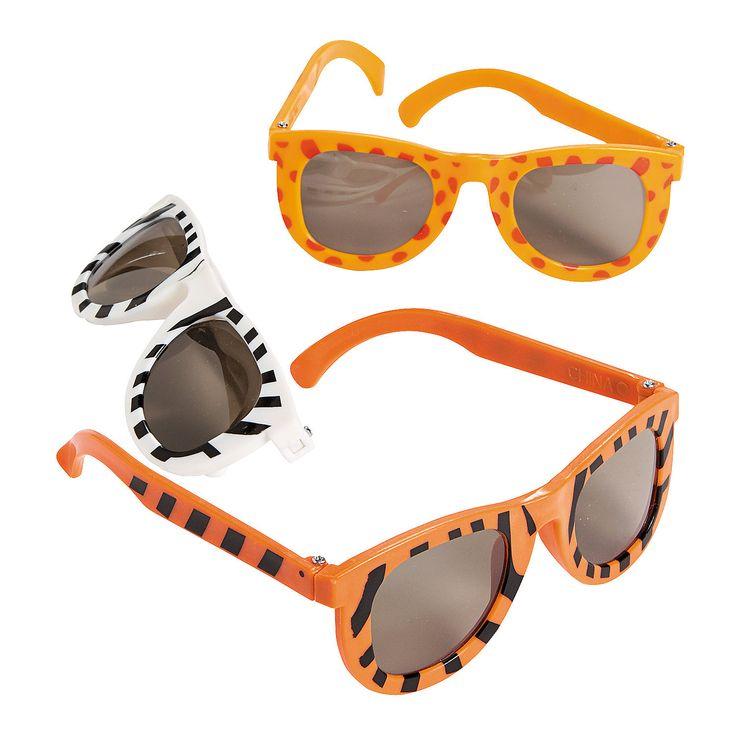 Animal Print Sunglasses make a fun party favor. $6.00 per dozen at  OrientalTrading.com