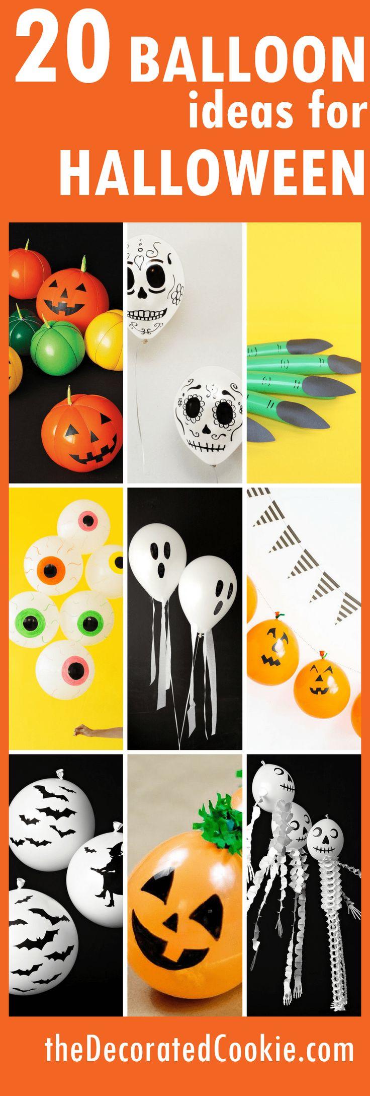 20 balloon ideas for Halloween parties