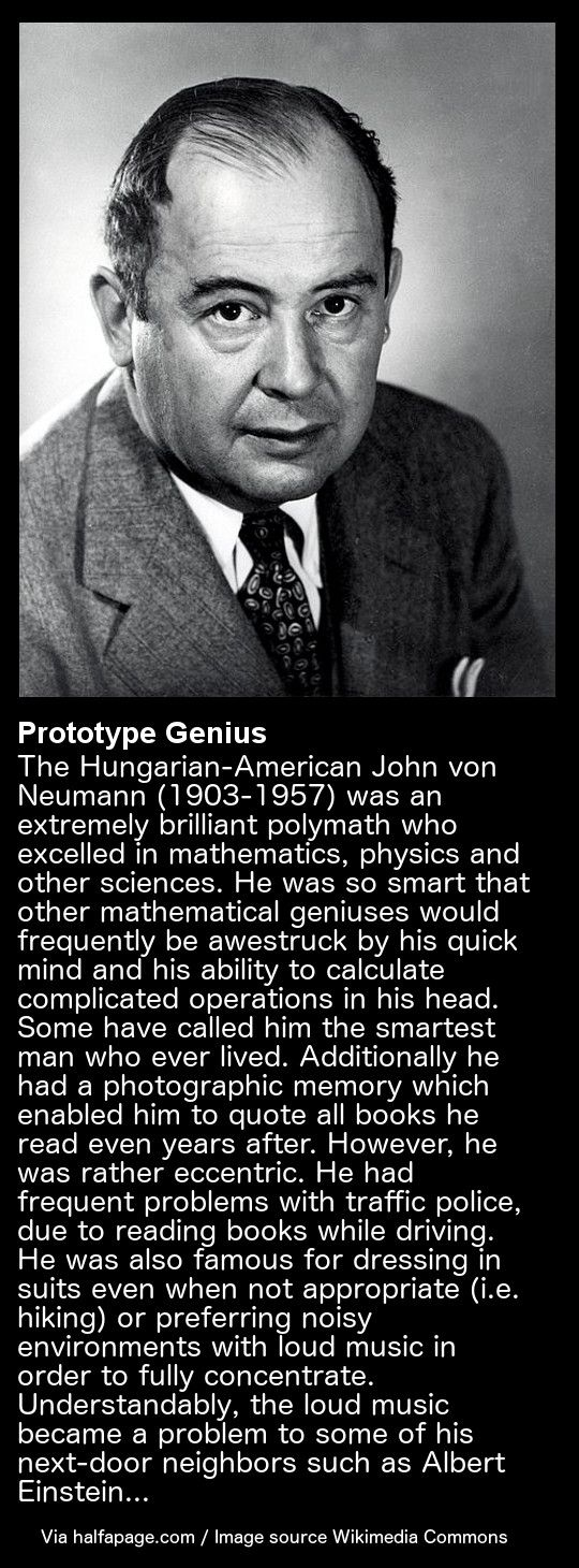 Prototype Genius - John von Neumann