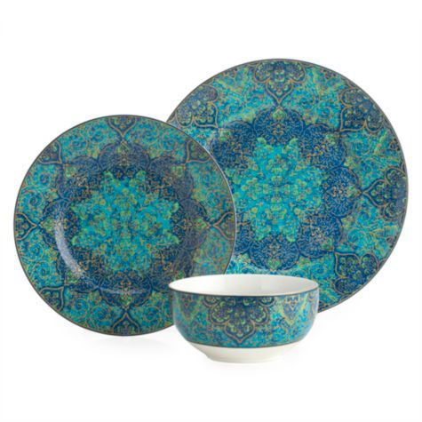 Ibiza Dinnerware - Sets of 4 from Z Gallerie  sc 1 st  Pinterest & 164 best Teal turquoise aqua dinnerware images on Pinterest | Dishes ...