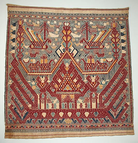 Textiles: Indonesia, Sumatra, Lampung providence, 19th century, Ceremonial Textile (Tampan)
