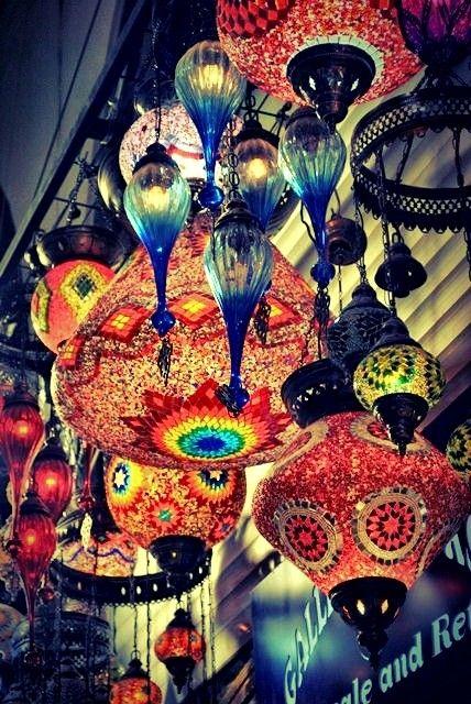 Beautiful glass lights from Eminönü, Turkey