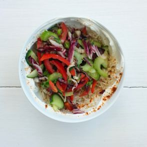 One Minute Stir-Fry with Harissa & Yogurt by Jessica Seinfeld